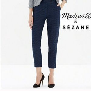 Madewell | Blue and Black Et Sezane Cropped Pant